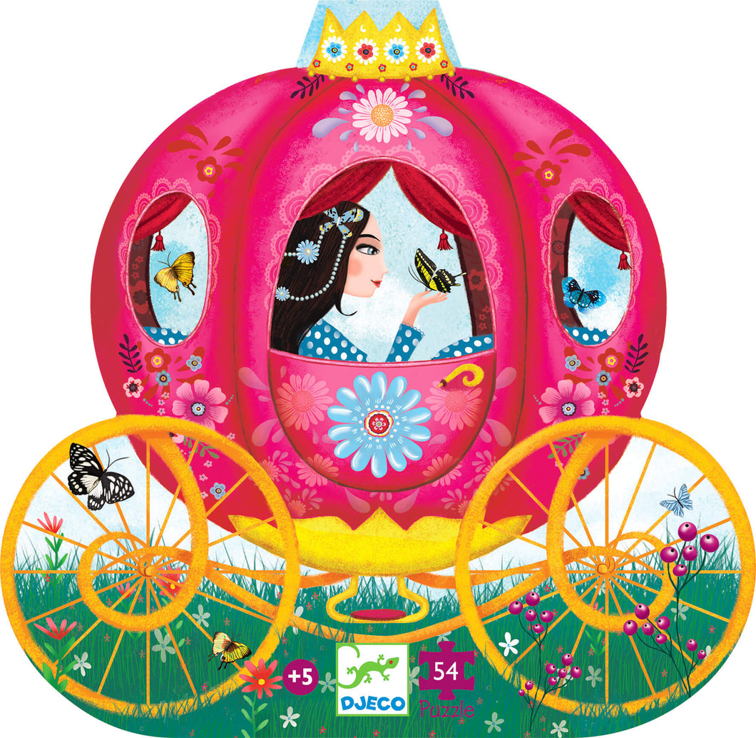 Djeco  54 Piece Silhouette Puzzle - Elise's Carriage