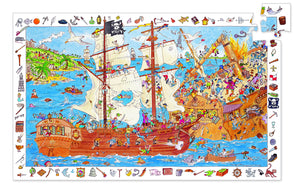 Djeco  100 Piece Observation Puzzle - Pirates