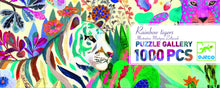 Load image into Gallery viewer, Djeco 1000 Piece Gallery Puzzle - Rainbow Tigers