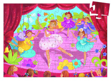 Load image into Gallery viewer, Djeco 36 Piece Silhouette Puzzle - Ballerina