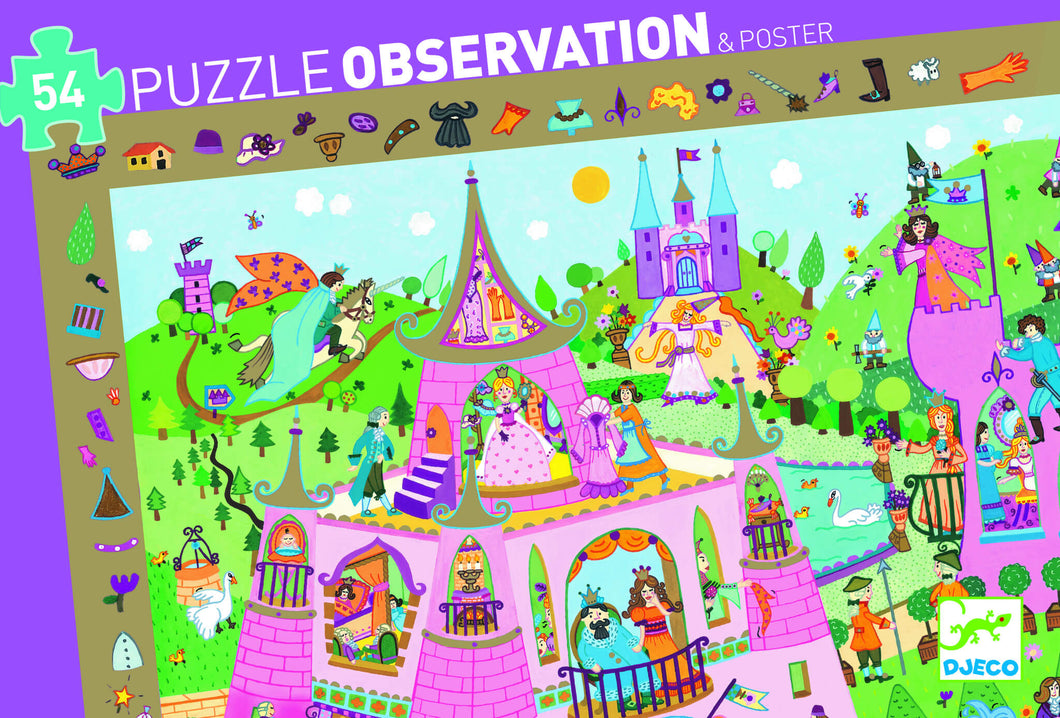 Djeco - 54 Piece Observation Puzzle - Princess