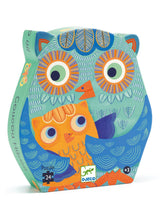 Load image into Gallery viewer, Djeco 24 Piece Silhouette Puzzle - Hello Owl