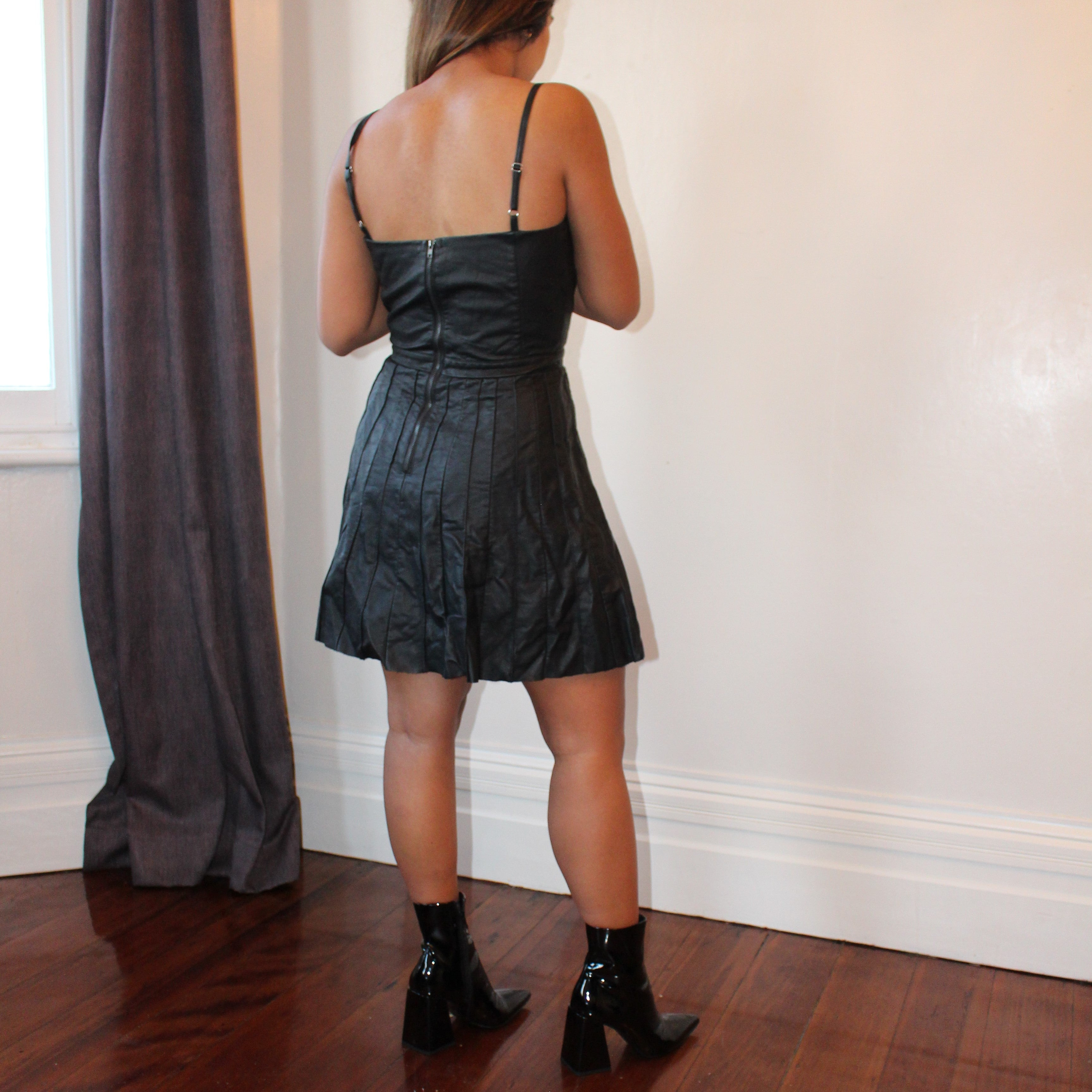 Leather Lady Sweetheart Dress - ZoMa Collective