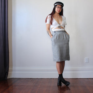 Monochromatic Buttons skirt - ZoMa Collective