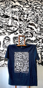 GlenRonald Art Eco T-Shirt Large Grey - Signed and Numbered