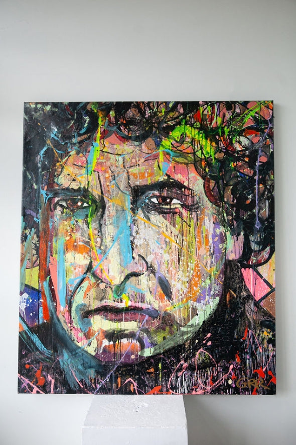 Portrait of Bob Dylan