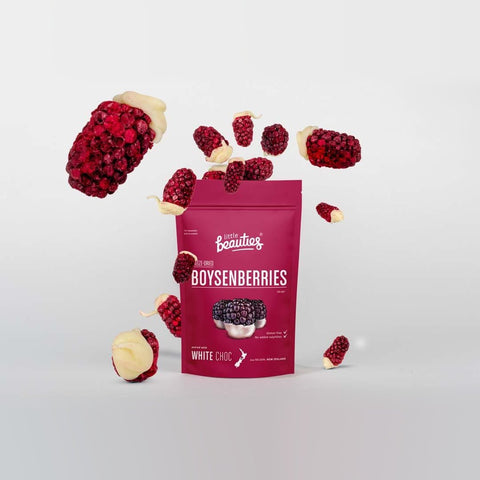 Freeze Dried Whole Boysenberries with White Choc