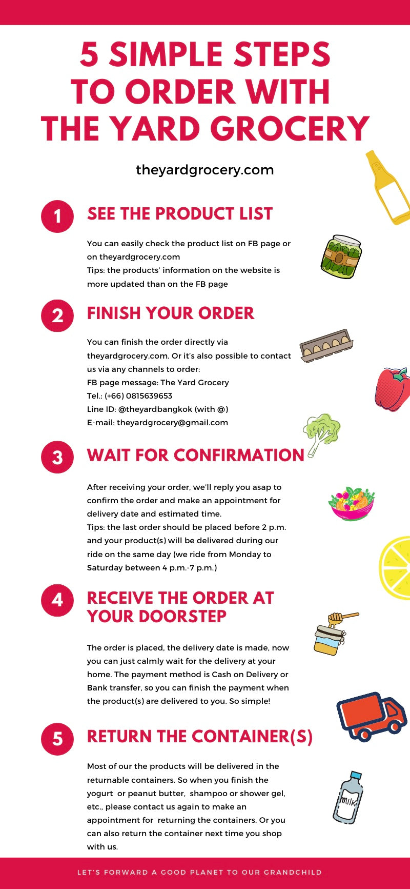 How to order with The Yard Grocery