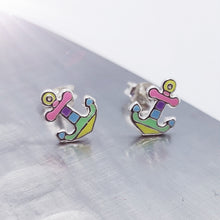Load image into Gallery viewer, Pastel Anchor Children's Earrings