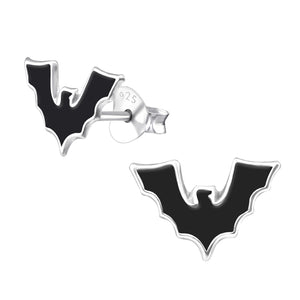 Bat Silver Children's Earrings