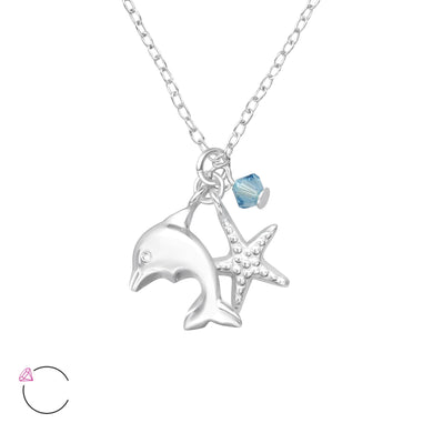 Ocean Lovers  Silver Necklace