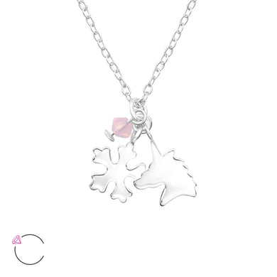 Unicorn & Snowflake Silver Necklace