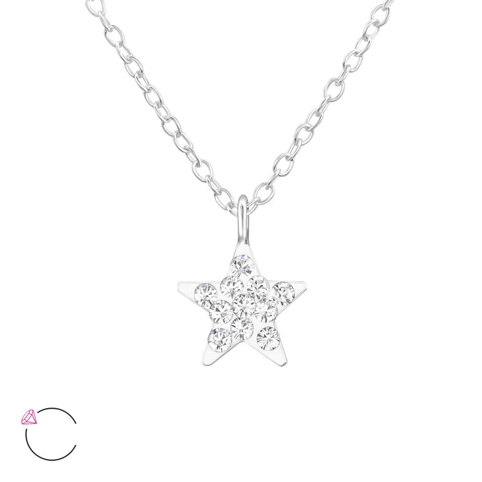 Star Silver & Crystal Necklace