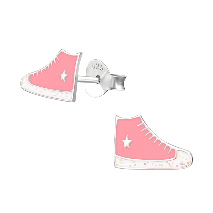 Pink All Star Sneaker Children's Earrings