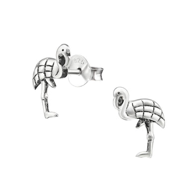 Flamingo Solid Silver Stud Earrings