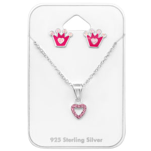Princess Necklace and Earrings Set