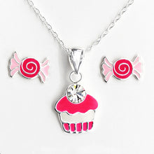 Load image into Gallery viewer, Candy Lovers Silver Necklace and Earrings Set