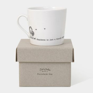 East of India Wobbly Mug - Happiness Is Just A Biscuit Away