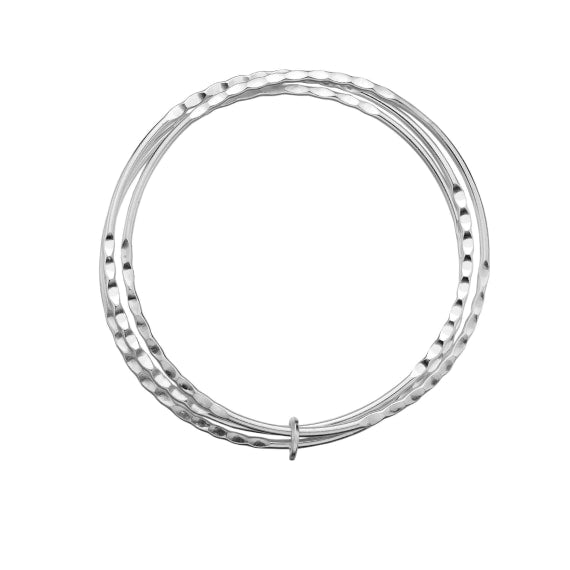 Sea Gems Silver Hoops Bangle