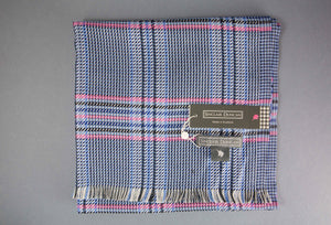 Sinclair Duncan Silk Blue Tweed Scarf
