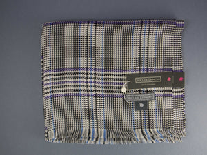 Sinclair Duncan Silk Grey Tweed Scarf