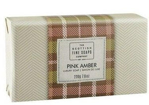 Scottish Fine Soaps Luxury Wrapped Soap - Pink Amber