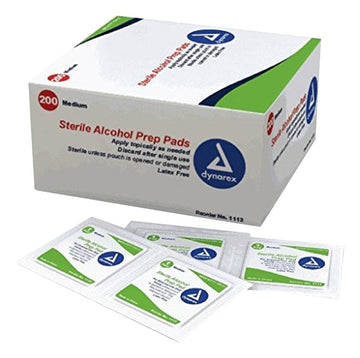 Alcohol Prep Pads, 70%, 100 count