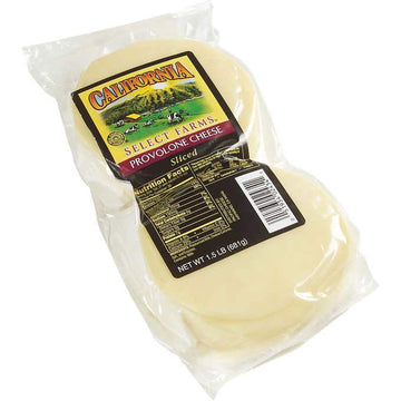 Sliced provolone cheese, 1.5 lb