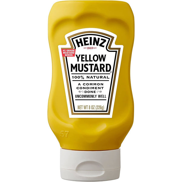 Heinz yellow mustard, 12.75 oz