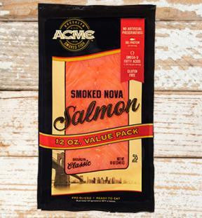 Smoked salmon, 12 oz