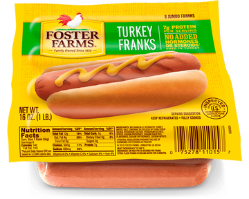 Turkey Franks, 8 count