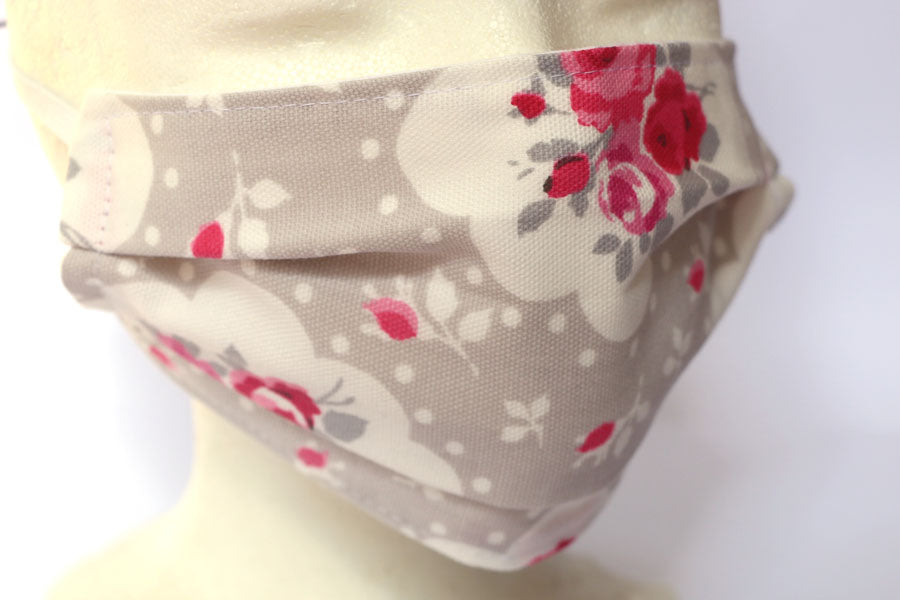 *NEW* Grey and white roses - Cotton Face Masks