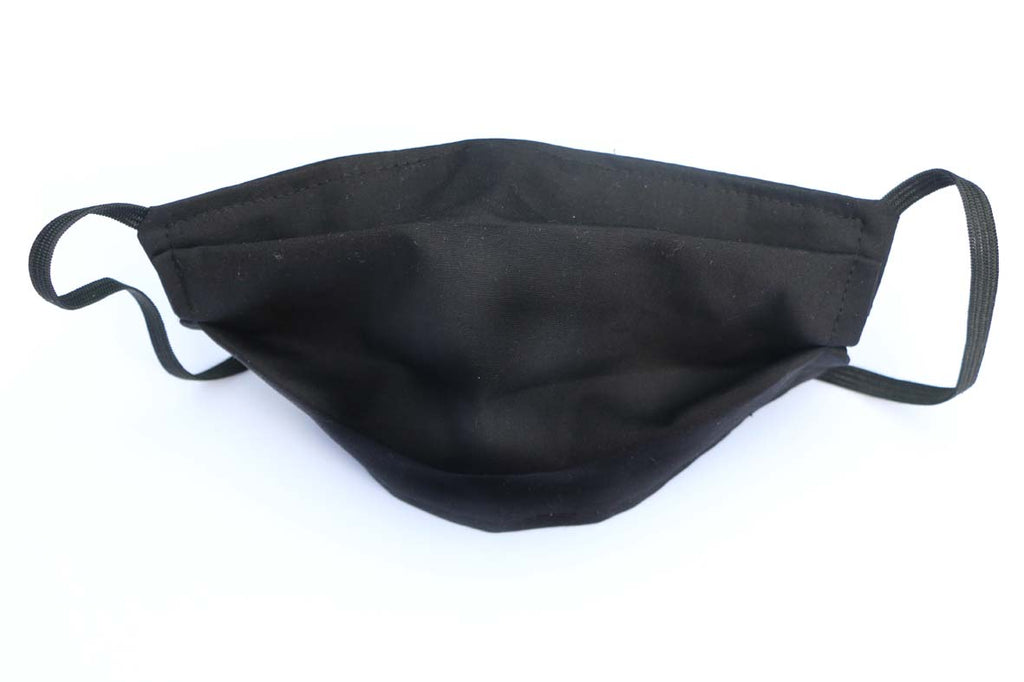 Plain Black - Cotton Face Masks