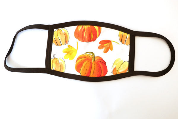 *NEW* Autumnal Pumpkin - Cotton Face Masks