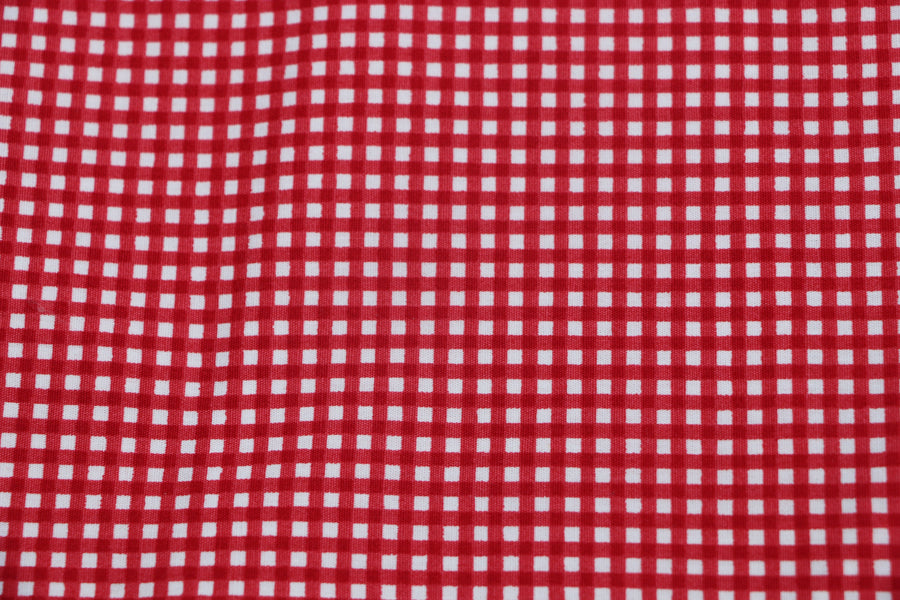 Red Gingham Print Face Mask - Cotton Face Masks