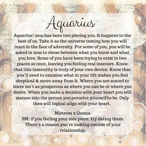 Aquarius 2020 Forecast