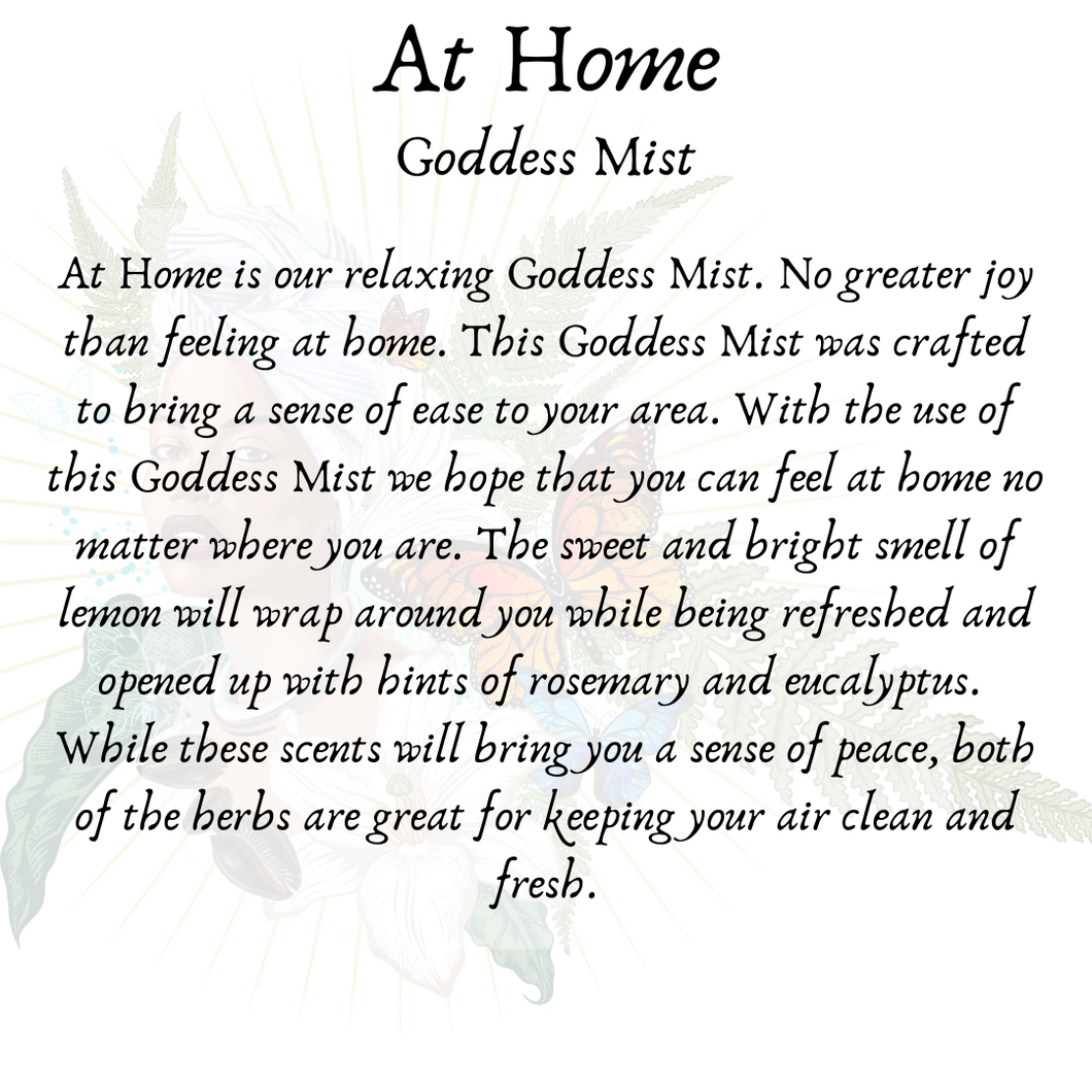 At Home - Relaxing Goddess Mist