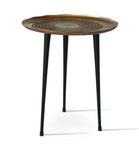 Metalurgic Side Table in Antique Gold