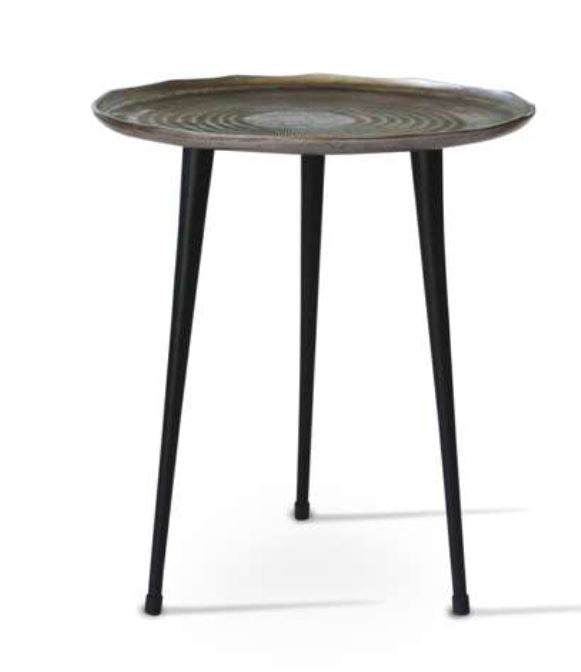 Metalurgic Side Table in Graphite Grey