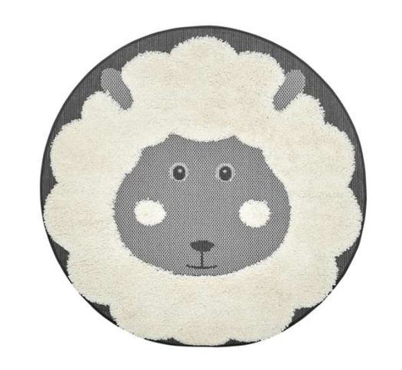 Baa Baa kids Rug in Black Sheep
