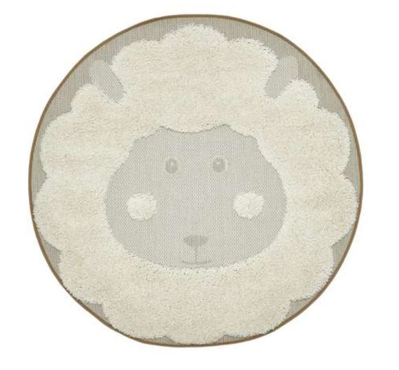 Baa Baa kids Rug in White Sheep