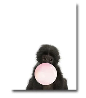 Animals with Pink Balloons Wall Art