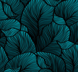 Teal Jungle Wallpaper
