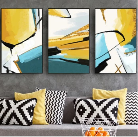 Yellow & Blue Wall Art