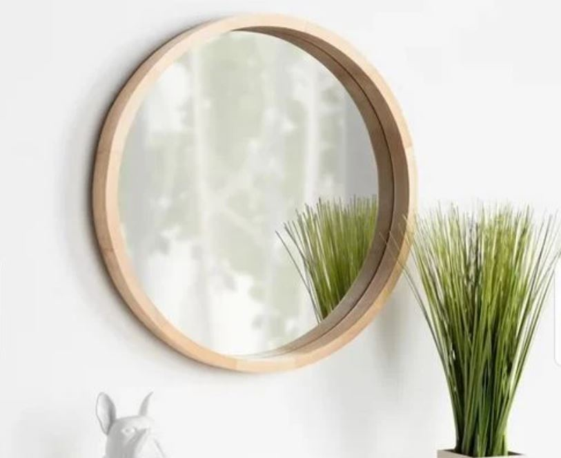 Birch Porthole Round Mirror