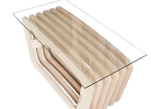 Birch and Glass Coffee Table