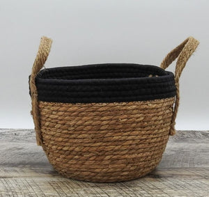 Black Rope Top with Grass Bottom and Hemp Handle
