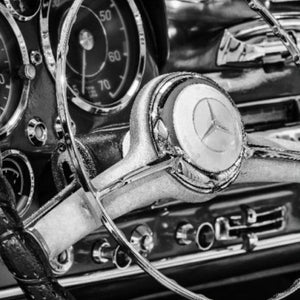 Classic Steering Wheel -Mercedes Canvas Wall Art