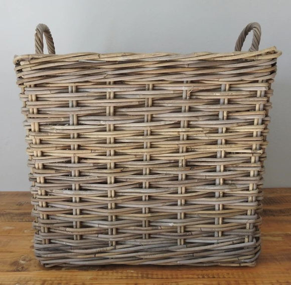 Rattan Square Kubu Grey Basket