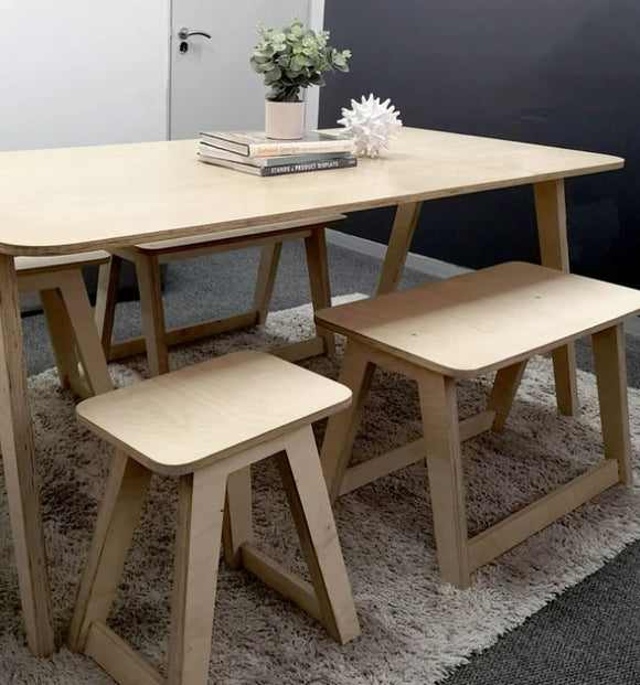 Kensington Dining Table and Benches (Full Set)